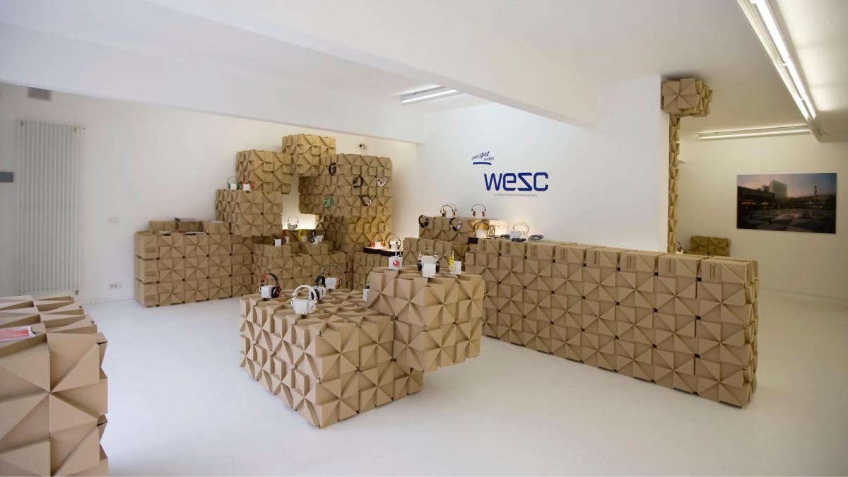"Launching a new <br class=""hidden-xs"" /> WeSC headphone in a <br class=""hidden-xs"" /> modular retail space"